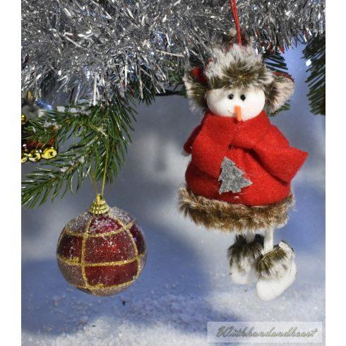 Hóember piros ruhában