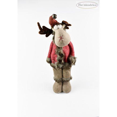 Álló rénszarvas 52cm, karácsonyi dekoráció textil figura