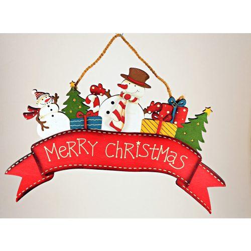 Karácsonyi ajtó, ablak dísz fa 30x21cm, karácsonyi dekoráció