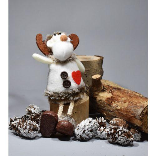 Filc rénszarvas-karácsonyi dekoráció 11cm