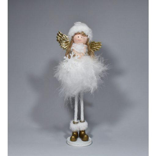 Fehér angyal csillaggal 19cm