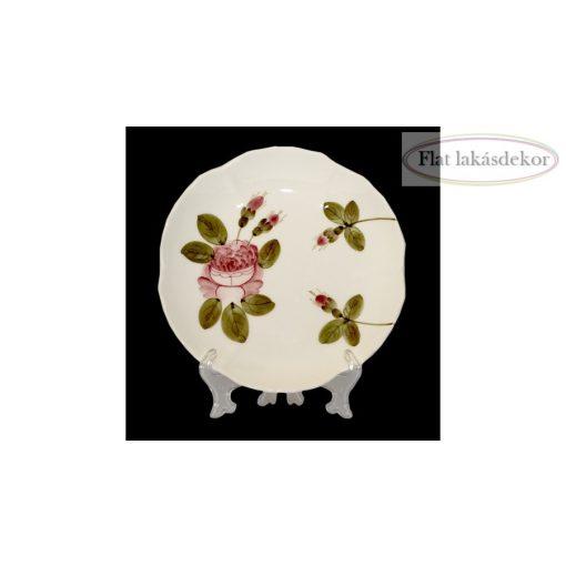 Romantik rózsás teásalj,kerámia,kézzel festett tányér, étkészlet, lakásdekoráció, ajándék