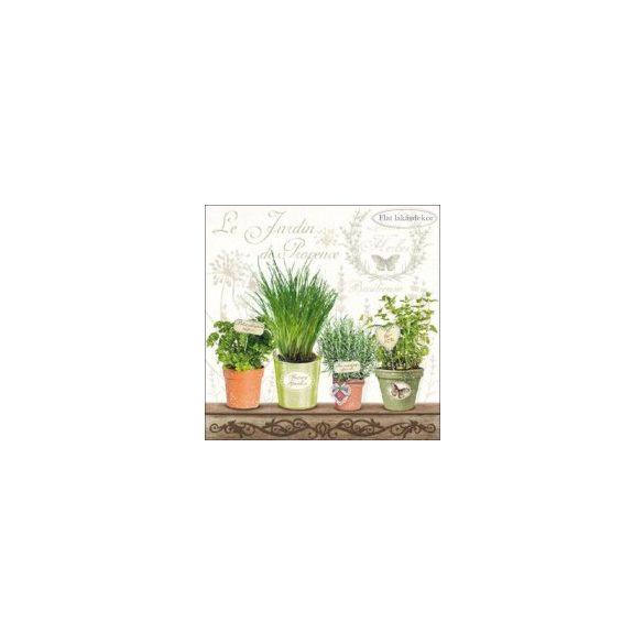 Le Jardin de Provence papírszalvéta 33x33cm, 20db-os-kert mintás