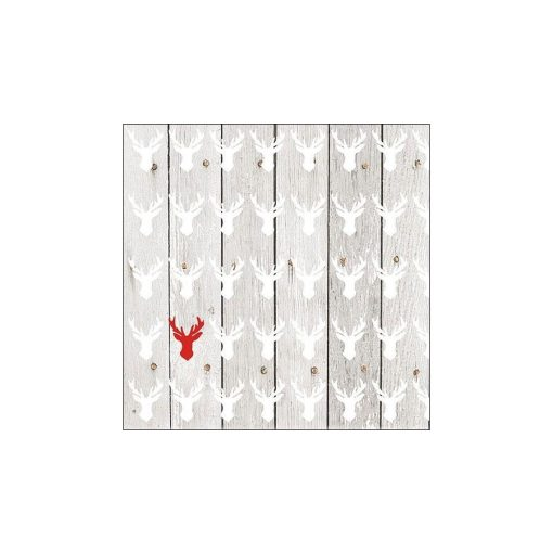 13311866 One Red Deer papírszalvéta 33x33cm,20db-os
