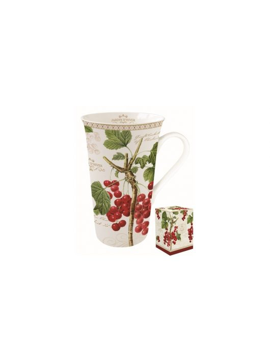 Porcelánbögre 600ml,dobozban Jardin D'Hiver, Étkészlet, Lakásdekoráció, ajándék