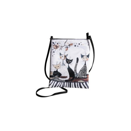 Válltáska textil 18x22cm,Rosina Wachtmeister:Cats Sepia