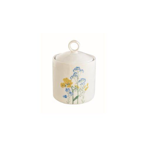 Porcelán konyhai tároló 9x13cm, Mille Fleurs Yellow