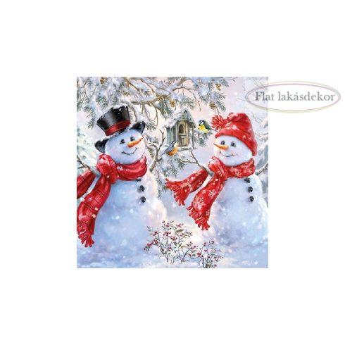 Snowmen and Birds-papírszalvéta