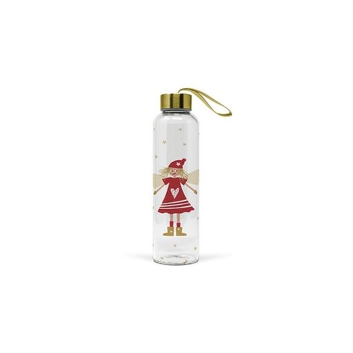 Üvegflaska borosilicate üveg 0,55l, Lucy Red