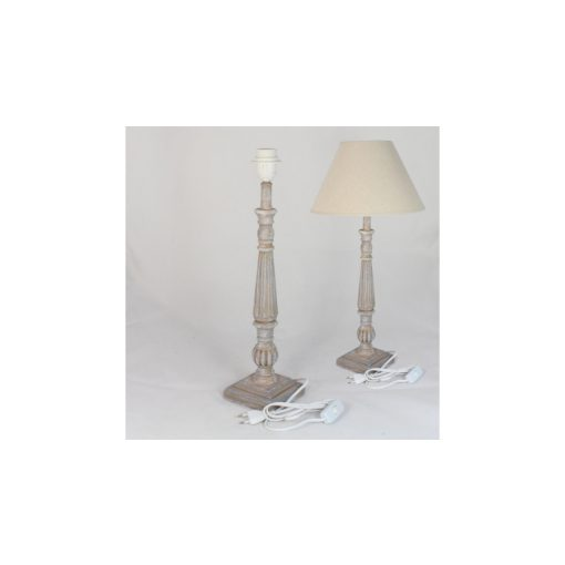 WE14133HG Asztali lámpatest kék antikolással 10x50cm