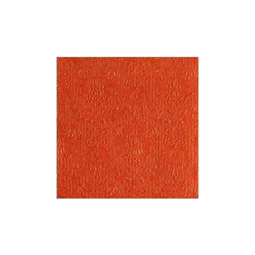 Dombornyomott papírszalvéta elegáns narancsszínű  33x33cm,15db-os Ambiente B.V.